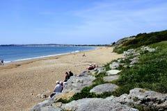 Bowleaze liten vik, Weymouth, Dorset, UK Royaltyfria Bilder