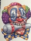 Bowler clown Royalty Free Stock Photos