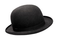 Bowler hat. Classic bowler hat on white background stock images