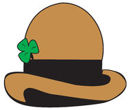 Bowler Hat. Vector bowler hat with shamrock-eps file available Stock Image