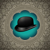 Bowler hat background. Royalty Free Stock Photo