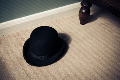 Bowler hat on floor Stock Images