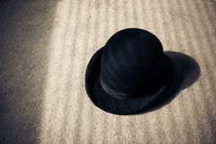 Bowler hat on floor Royalty Free Stock Image
