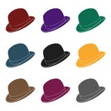 Bowler hat icon in isolated on white background.  Stock Photos