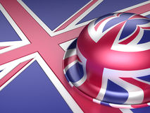 Bowler hat with UK flag Stock Image