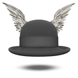 Bowler Hat with Wings Stock Photos