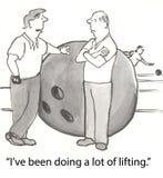 Bowler lifting Stock Photos