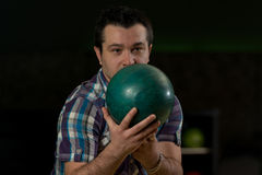 Bowler Poised With His Ball Royalty Free Stock Photo