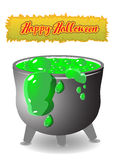 Bowler for witchcraft. Happy Halloween. For your creativity Royalty Free Stock Photo