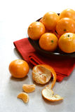 A bowlful of satsuma oranges Royalty Free Stock Image