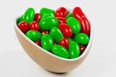 Bowlful van Kerstmis Jellybeans Royalty-vrije Stock Afbeeldingen