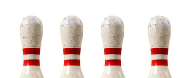 Bowlin Pin in a Row Royalty Free Stock Images