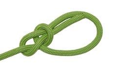 bowline Een knoop van groene kabel Stock Afbeeldingen