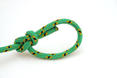 Bowline knot. On an isolated bakcground - safe and security Royalty Free Stock Photos