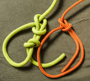 Bowline - knot. Bowline - Knot with security and without royalty free stock photos