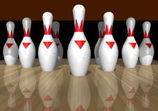 Bowling. A Ball's Eye View of bowling Royalty Free Stock Image