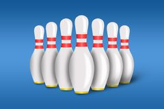 Bowling illustrazione di stock