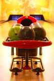 Bowling. Classic set of balls to bowling Royalty Free Stock Photography