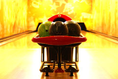 Bowling. Classic set of balls to bowling Royalty Free Stock Photos