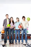 In bowling Royalty Free Stock Image