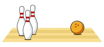 Bowling. Icon in cartoon style Royalty Free Stock Photography