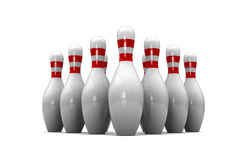 Bowling. Abstract 3d illustration of bowls isolated over white background Stock Photos