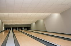 Bowling. Premise for game in bowling Royalty Free Stock Photos