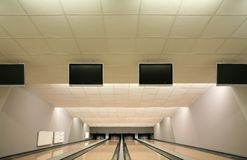 Bowling. Premise for game in bowling Royalty Free Stock Images