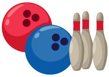 Bowling. Illustration of isolated cartoon bowling on white Stock Photo
