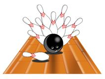 Bowling. Composition of element about bowling, usable for all project about this sport, specially if You want to talk about win Stock Photography