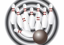 Bowling. Royalty Free Stock Image