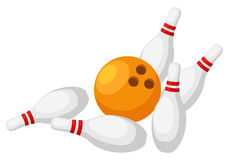 Bowling. Isolated on white background vector Stock Images