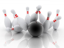 Bowling 3d Stock Photos