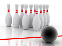 Bowling 3d Royalty Free Stock Image