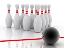 Bowling 3d Imagem de Stock Royalty Free