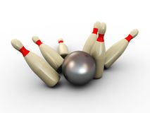 Bowling 3d Royalty Free Stock Photo