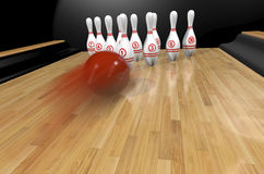 Bowling.3d rendr Στοκ Φωτογραφίες