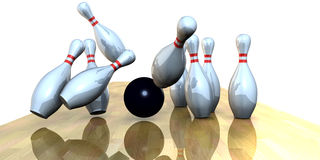 Bowling. 3d rendering, extra large rendering Stock Photography