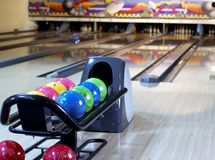 In a bowling Royalty Free Stock Photos