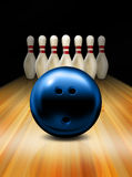 Bowling. An illustration of a tenpin bowling ball and skittles Stock Image