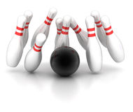 Bowling. Symbol of bowling on a white background Stock Photography