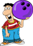 Bowling. The person plays bowling, smiles, has control over a sphere Royalty Free Stock Photos