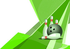 Bowling, abstract design. Sport - bowling, green abstract design Royalty Free Stock Image