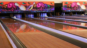 Bowling Alley stock images