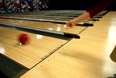 Bowling alley lanes Stock Photos