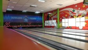Bowling Alley stock video footage
