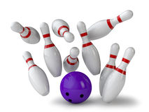 Bowling alley Stock Image
