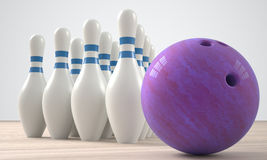 Bowling alley Royalty Free Stock Photos