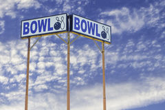Bowling Alley Sign Royalty Free Stock Photo