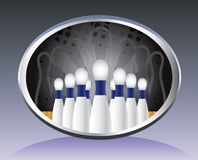 Bowling background. Stock Images